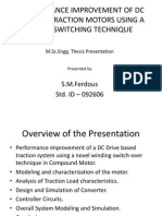 Performance Improvement of DC Electric Traction Motors Using