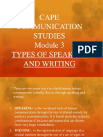 communication studies speaking and writing