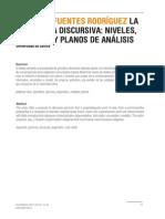 La Gramatica Discursiva Niveles Unidades y Planos de Analisis