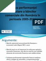 Analiza Performantei Financiare a Bancilor Comerciale Din România