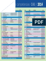 Calendario de Competencias CAU 2014
