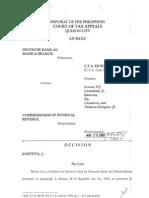 Deutsche v. CIR CTA en Banc Reso