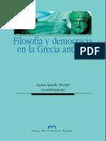 Sancho Rocher, Laura. Filosofía y Democracia en La Grecia Antigua.