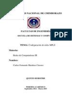 Guia de Configuracion de MPLS