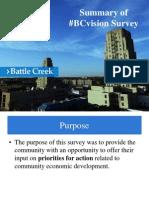 BC Vision Community Engagement Survey Summary