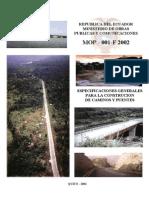 Especificacion Construccion de Puentes y Caminos