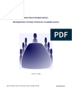 INFORMATION SYSTEM STRATEGIC PLANNING PRACTITIONER'S NOTE -draft version
