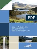 Guía de Participación Ciudadana en La Planificación de Los GAD