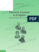 Colmez Elements d'Analyse Et d'Algebre