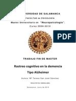 TFM San Jose Sanchez Rastreo Cognitivo Demencia