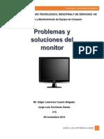 problemas y soluciones del monitor
