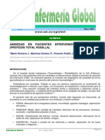Ansiedad en Pacientes Intervenido de Rodilla