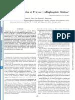 Intracellular Localization of Fructose 1, GBisphosphate Aldolase