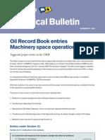 Oil Record Book Guidelines Marpol I