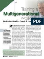 Training a Multigenerational Workforce