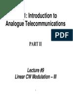TE311 Lecture09 SSB SC VSB Modulation