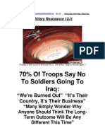 Military Resistance 12J1 Soldiers Say No to Obamas New War