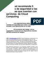 Blue Coat recomienda 5 políticas de seguridad a las empresas que cuentan con servicios de Cloud Computing