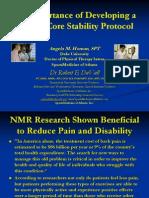 Biomechanics Primary Core Stability Protocol 030409