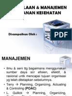 4) Pengelolaan & Manajemen Pelayanan Kesehatan