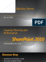 The Capacity Planning - SPS2010