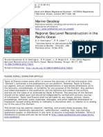 Regional Sea Level Reconstruction in the Pacific Ocean