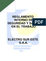 Reglamento Interno de Seguridad y Salud en El Trabajo..