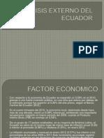 Analisis Externo Del Ecuador