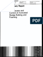 The Causes and Control of Activated Sludge Bulking Anf Forming