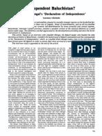 17035479 Independent Baluchistan Ataullah Mengals Declaration of Independence