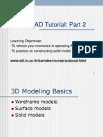 AutoCAD Tutor SolidModel