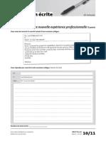 Delf Pro a2 Production Ecrite Exercice 1
