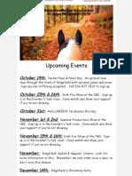 Ridgefield Arena October-November 2014 Newsletter