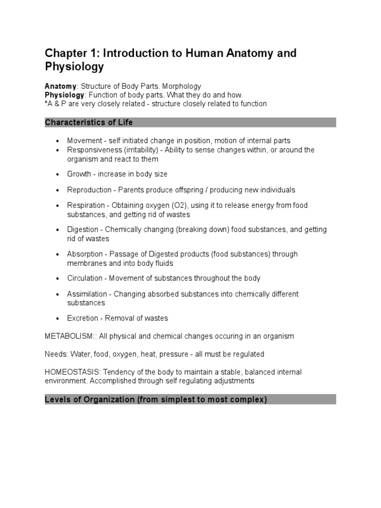 chapter_1_notes.doc | Anatomical Terms Of Location | Animal Anatomy