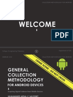 General collection methodology for Android forensics.