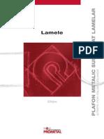 Plafon Metalic Suspendat Lamelar