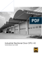 Hormann Technical Manual for Industrial Sectional Door