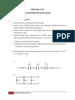 Perc. II. Karakteristik Kapasitor