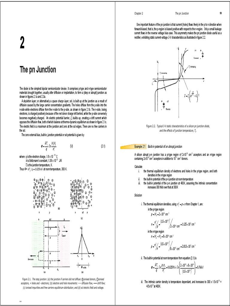 Chapter 2 3pnp Junction Pn Diode Zener Breakdown Phenomen In Semiconductor