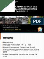 Rencana Pembangunan dan Pengembangan Permukiman Tahun 2015