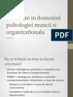 Seminar 1 - Cercetare in PMO