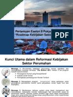 Road Map Kebijakan Sektor Perumahan