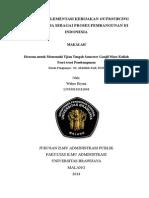 dampak implementasi kebijakan outsourcing sebagai proses pembangunan di Indonesia