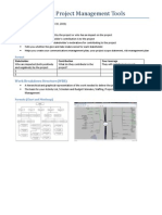 Project Management Tools (Stakeholder Analysis, WBS)