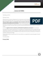 Cambio Condiciones COINC