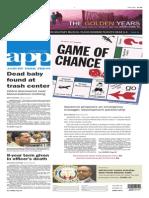 Asbury Park Press front page Thursday, Nov. 13 2014