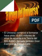 CLASE 1 El Origen Del Universo Ppt