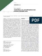 Decolorisation by Aeromonas hydrophila strain.