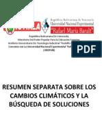 1.- Separata Sobre Los Cambios Climaticos y Busqueda de Soluciones