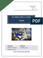 Rapport Sur La Crise Dans La Zone d'Euro